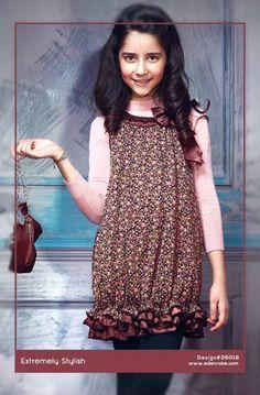Eden Robe Kids Autumn Winter Dresses Collection 2014-2015