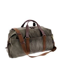 Shop the Abingdon weekender bag at J.Crew and see the entire selection of Men's Accessories. Find Men's clothing & accessories at J. Canvas Travel Bag, Mens Travel Bag, Travel Bags, Creation Couture, Mode Vintage, Backpack Bags, Weekender Bags, Duffel Bags, Messenger Bags