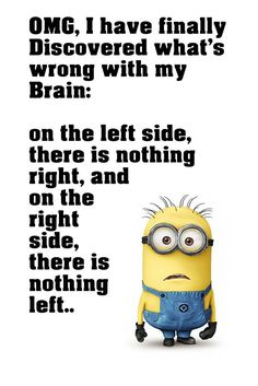Minion Quotes Brain Funny Motivational Poster - Funny Quote, minion quotes - Minion-Quotes.com