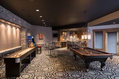 Really Cool Basement Interior Design Photos - Basement Pool Hall | Live Love in the Home