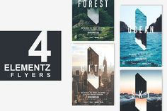 4in1 ELEMENTS Flyer Template by tes on @creativemarket