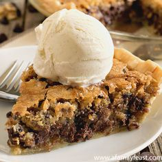 Toll House Chocolate Chip Pie Recipe - RecipeChart.com OMG I had one of these at Rosana's in Oceanside, Oregon, YUM!!!
