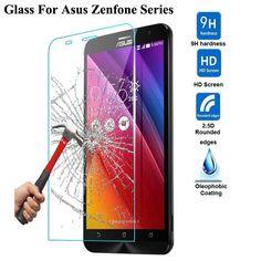 Asus zenfone 2 laser ze550kl ze601kl için temperli cam 4 5 6 selfie go zb551kl 3 max zc553kl zc550kl ekran koruyucu film