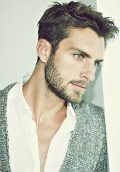 Classy look in Short Hairs With Designed Stubble Beard