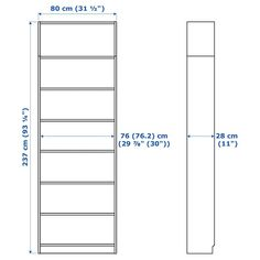 IKEA BILLY Bookcase Ikea Billy Bookcase, Bookcase White, Bookshelves, Tempered Glass Door, Ikea Family, Ikea Hackers, Ceiling Height, Window Cleaner, Particle Board