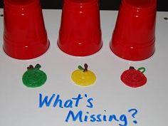 What's Missing?  Apple Color Recognition Game for #preschool #kindergarten
