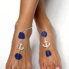 New to BareSandals on Etsy: Anchor and Sea Glass Barefoot Sandals Foot Jewelry Barefoot Beach Wedding Foot Chain Anklet Anchor Foot Chain Anchor Jewelry Seaglass Sandal USD) Anchor Jewelry, Ankle Jewelry, Ankle Bracelets, Feet Jewelry, Beach Jewelry, Barefoot Beach, Foot Bracelet, Beaded Sandals, Bijoux Diy