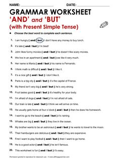 English Grammar 'And' and 'But' (Present Simple) www.allthingsgrammar.com/and-but-so-because.html