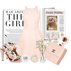 Garden Wedding by stylemeup007 on Polyvore featuring Warehouse, Alberta Ferretti, Chanel, Wildfox, Topshop, Ilia, Narciso Rodriguez, Kershaw, Flowers and contestentry