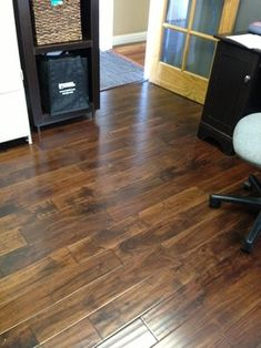 This is Armstrong Rustic Accents Acacia Wood Twig Engineered Hardwood Flooring in our office. What do you think about this floor?