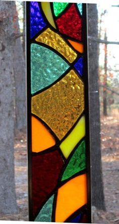 Magnificent stained glass panel glass art gift door hankbarnes1234