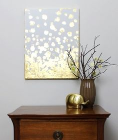 Gold leaf and metallic art is really started to gain popularity!