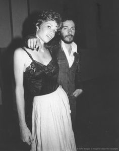 her ensemble  UNSPECIFIED - CIRCA 1975: Photo of Bruce Springsteen and Karen Darvin. (Photo by Robin Platzer/Michael Ochs Archives/Getty Images).