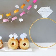 Diamonds are a fun theme for a DIY engagement shower. Lots of ideas for crafting up a party of your own!