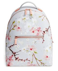 Flower Print Leather Backpack TED BAKER LONDON
