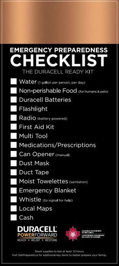 Duracell Emergency Preparedness Checklist - - Are you ready if disaster strikes your home? Check out this Duracell Emergency Preparedness Checklist and make an emergency kit for your home today!