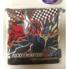 Pokemon Center 2014 Xerneas Yveltal Fennekin Froakie Chespin Medium Size Drawstring Dice Bag