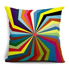 Venzhe Nordic Feather Vintage Cushion Cover Bohemian Colorful Geometric Pillowcase Patterns Sofa Seat Luxury Home Decorative Throw Pillow Case 18x18 Inch - Pattern 6 -- Awesome products selected by Anna Churchill