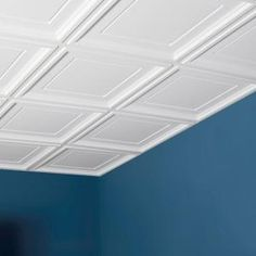 Genesis 2 ft. X 2 ft. Icon Coffer White Ceiling Tile-753-00 at The Home Depot - for our basement!