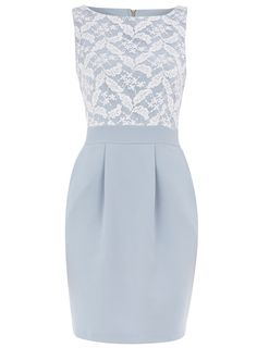 Pale Blue Lace Dress- Dorothy Perkins