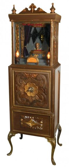 """Live Auctioneers.com: """"The Oracle"""" coin-operated fortune telling arcade machine"""