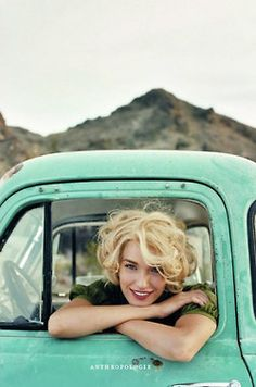 basically my hairstyle, except that mine is brown. And the truck color = LOVE Image Of The Day, Senior Girls, Her Hair, Photography Poses, People Photography, Landscape Photography, Fashion Photography, Hair Inspiration, Character Inspiration
