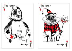 Transformed by an artist's imagination, these ordinary playing cards are a small box of treasure.  Here are dogs as we imagine them to be: coy, heroic, aloof, comical and always lovable. A dramatic ballerina, a heroic soldier, a love-struck troubadour are each presented with great wit and good humor. Printed in the USA by the United States Playing Card Company.   Hello Hounds: Pack of Dogs went viral so we are ramping up operations to meet the demand. Reddit, BoredPanda etc have spread…