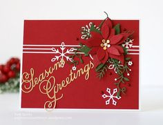 Image result for poinsettia card diecut