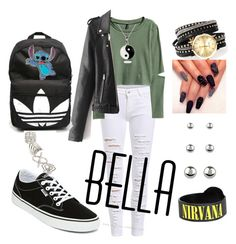 """""""#badgirlintheschool//"""" by kiaraloveh on Polyvore featuring adidas, Accessorize, Topshop and Vans"""