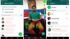WhatsApp Status : la copie conforme des stories Snapchat disponible en bêta