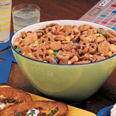 Halloween Party Mix ~ This colorful snack mix has a light coating that makes it perfect for gatherings of all kinds.