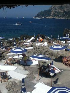 La Fontelina  The beach club in Capri.