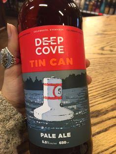 Tin Can Pale Ale - Tasting notes: balanced, pine & citrus hop notes, rich caramel malt, amber colour. 5.5% abv #deepcove #paleale #ale #tincan #beerporn