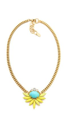 Elizabeth Cole Cluster Necklace