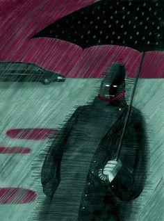 Magazine Illustrations by Maria Mikhalskaya, via Behance