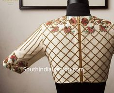 My Pins Latest Maggam Work Blouse Designs by Ranipink Studio! – South India Fashion What Smart Shopp Blouse Designs High Neck, Hand Work Blouse Design, Stylish Blouse Design, Choli Designs, Designer Blouse Patterns, Fancy Blouse Designs, Bridal Blouse Designs, Dress Designs, Pattern Blouses For Sarees