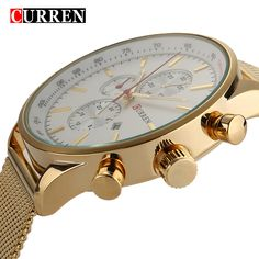 2016 New CURREN Luxury Brand Gold Sliver Watch Clock Men Watches Military Wristwatches,W8227