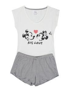 women'secret | Lots of fun | Mickey & Minnie | Short Mickey pyjama
