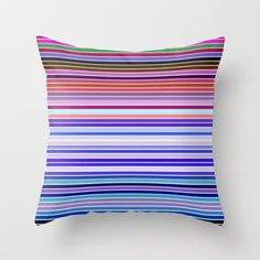 Re-Created Channels viii #Throw #Pillow by #Robert #S. #Lee - $20.00