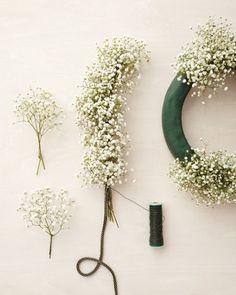 Babysbreath garland and wreath
