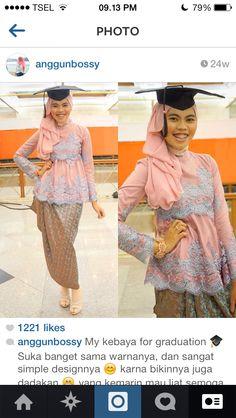 Kebaya Hijab Gown, Kebaya Hijab, Batik Kebaya, Batik Dress, Hijab Outfit, Model Kebaya Muslim, Hijab Fashion, Fashion Dresses, Modern Kebaya