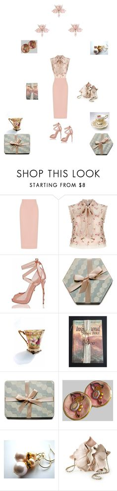 """""""Blush pink"""" by einder ❤ liked on Polyvore featuring Roland Mouret and Needle & Thread"""