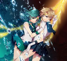 Sailor Neptune & Sailor Uranus | Sailor Moon S #anime #animegirl