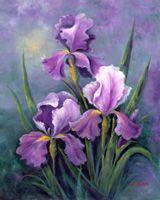 Flowers Art Painting Purple Iris New Ideas Art Floral, Watercolor Flowers, Watercolor Paintings, Paint Flowers, February Birth Flowers, Iris Drawing, Purple Iris Flowers, Iris Art, Iris Painting