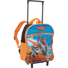 Disney Planes 12 Rolling Backpack, Orange >>> You can find more details by visiting the image link. (This is an Amazon Affiliate link and I receive a commission for the sales)