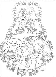 Spectacular Lion King The Effective Pictures We Offer You About Coloring Pages dogs A quality picture can tell you many things. Printable Adult Coloring Pages, Cartoon Coloring Pages, Disney Coloring Pages, Animal Coloring Pages, Coloring Book Pages, Colorful Drawings, Colorful Pictures, Mandala Disney, Lion King Nursery