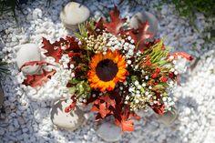 boda otoño, ramo novia otoño, color ocre, naranja, rojos