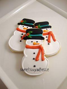Snowman Cookies (SugarBelle)