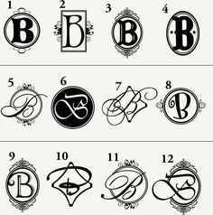 b monogram - Google Search