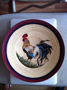 Wooden plate painting